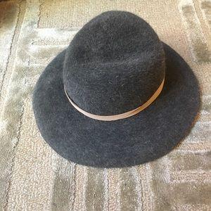 YESTADT - Wide Brim Round top Wool felt Hat Grey